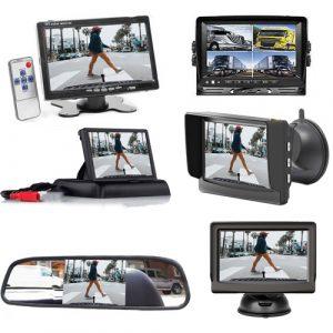 Monitor für Rückfahrkamera. Bis zum 4 Videos anzeigen