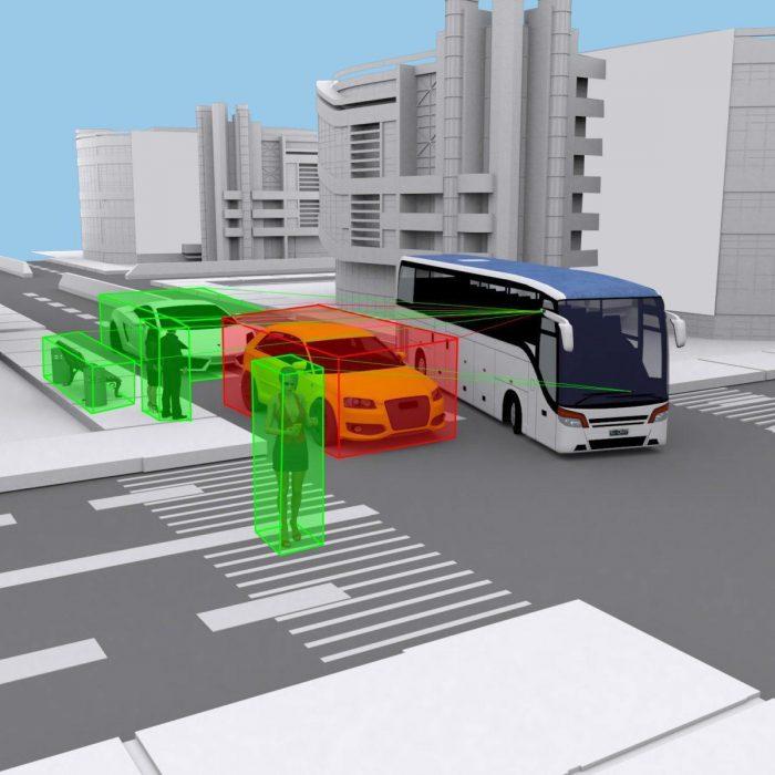 Bus Rückfahrsystem - auch für LKW & Bus geeignet.