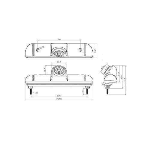 """3. Bremslicht Rückfahrkamera für Fiat Ducato, Peugeot Boxer & Citroen Jumper mit Sony CCD Chipset inkl. 7""""Monitor"""