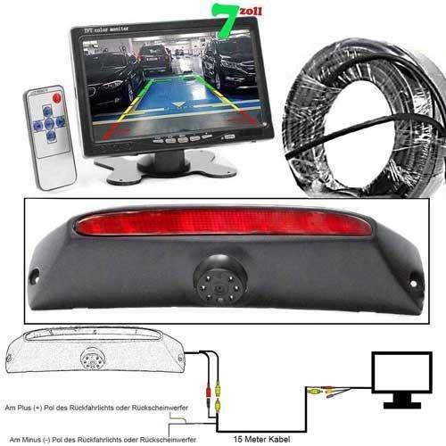 3rd Bremslicht Rückfahrkamera für Iveco Daily mit 7 zoll Monitor
