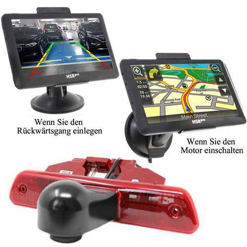 7″ Touchscreen Navigationssystem mit Rückfahrkamera für Citroen Jumpy, Peugeot Expert und Toyota Proace