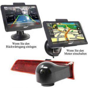 7″ Touchscreen Navigationssystem mit Rückfahrkamera für Ford Transit Custom