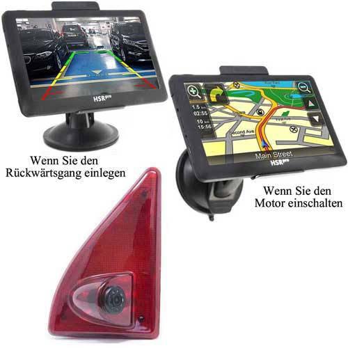 7″ Touchscreen Navigationssystem mit Rückfahrkamera für Renault Master, Nissan NV400  & Opel Movano