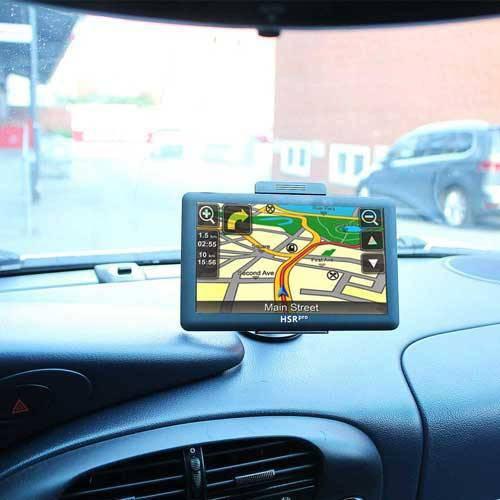 7″ Touchscreen Navigationssystem mit Rückfahrkamera für Transporter und Wohnwagen in Weiß