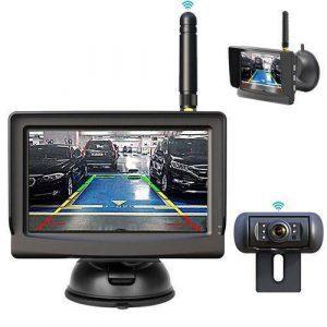 Drahtlos Rückfahrkamera mit Eingebautem Funksender im Monitor