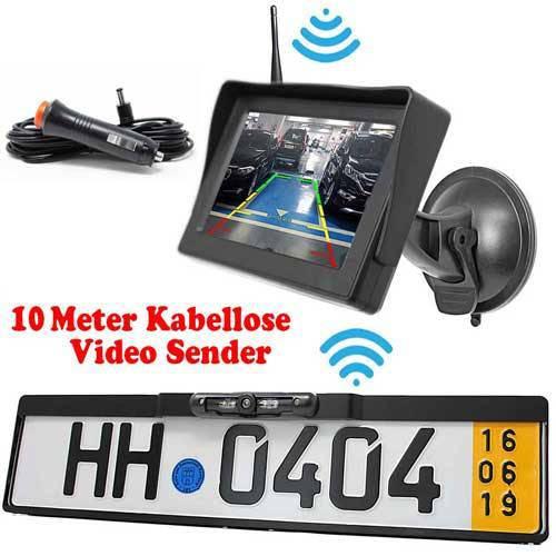 Dynamische Funk Rückfahrkamera mit Autoscheibe Monitor als Komplettset