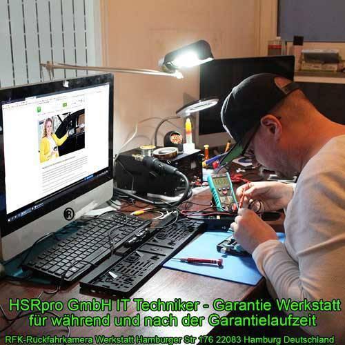 Dynamische Funk Rückfahrkamera mit Flip Monitor als Komplettset
