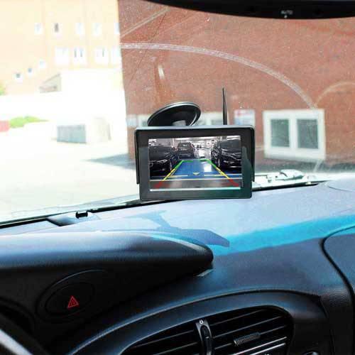 Dynamische Funk Rückfahrkamera mit Stand Monitor als Komplettset