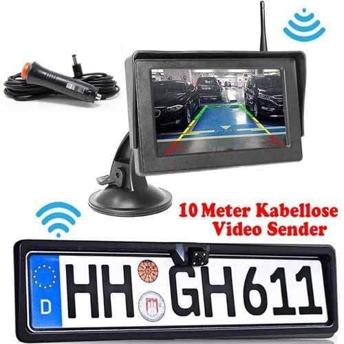 Dynamische Kabellose Rückfahrkamera mit Stand Monitor als Komplettset