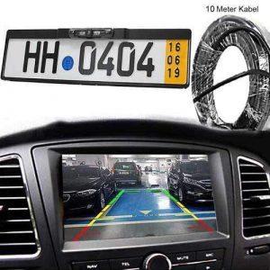 Dynamische Rückfahrkamera im Auto Kennzeichenhalter mit 10m Videokabel