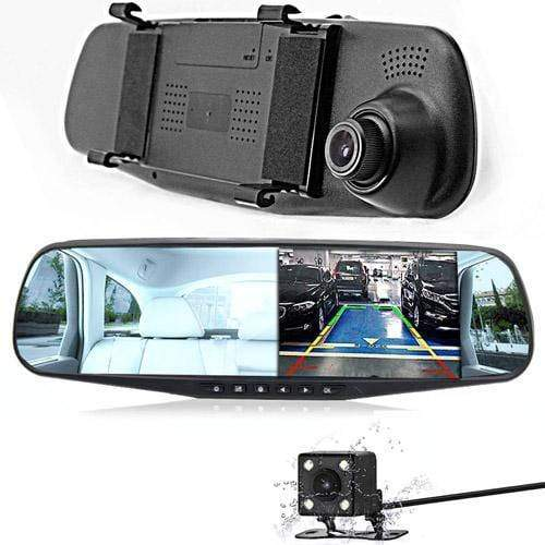 HD Dashcam mit Rückfahrkamera Spiegel Monitor