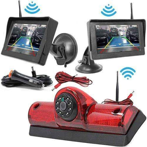Kabellose Rückfahrkamera mit Autoscheibe Monitor für Nissan Cargo und Nissan NV Passenger