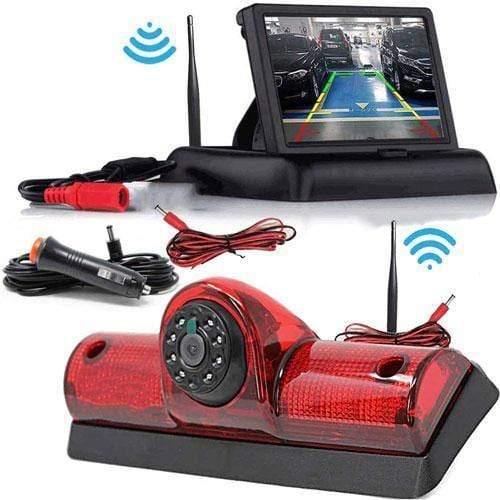 Kabellose Rückfahrkamera mit Flip Monitor für Nissan Cargo und Nissan NV Passenger
