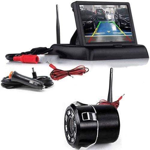 Kabellose Rückfahrkamera mit Flip Monitor für Vorne oder Hinten