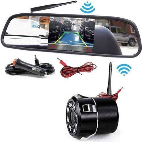 Kabellose Rückfahrkamera mit Spiegel Monitor für Vorne oder Hinten