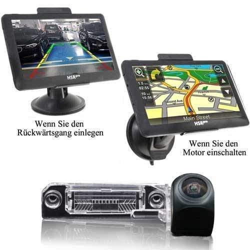 "Navigationssystem & Rückfahrkamera für VW T4 T5 mit 7"" Touchscreen Monitor auch für Golf Polo Jetta Passat B6 Touareg Touran Superb 5"