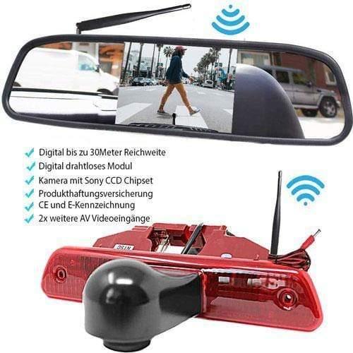 Rückfahrkamera für Citroen Jumpy, Peugeot Expert, und Toyota Proace. Digitale Kabellos & Flip Monitor mit Sony CCD Chipset