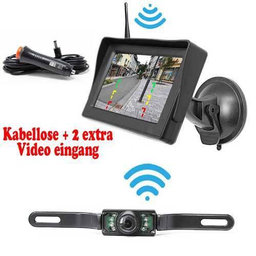 Rückfahrkamera für die Rückseite inkl. Monitor - Bis zu 5 Jahre Garantie