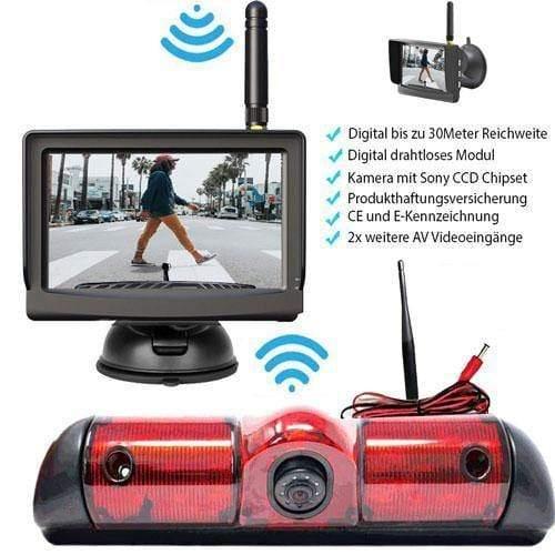 """Rückfahrkamera für Fiat Ducato, Peugeot Boxer & Citroen Jumper. Digitale Kabellos & 5"""" Monitor mit Sony CCD Chipset"""