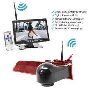 """Rückfahrkamera für Ford Transit Custom. Digitale Kabellos & 7"""" Monitor mit Sony CCD Chipset"""