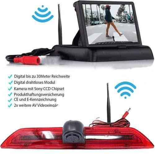 Rückfahrkamera für Ford Transit. Digital Kabellos & Flip Monitor mit Sony CCD Chipset