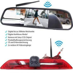 Rückfahrkamera für Ford Transit. Digital Kabellos & Spiegel Monitor mit Sony CCD Chipset