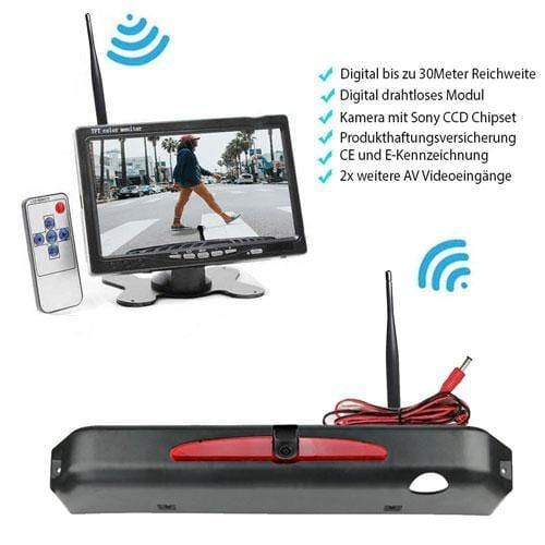 "Rückfahrkamera für Iveco Daily 2015-2017. Digitale Kabellos & 7"" Monitor mit Sony CCD Chipset"