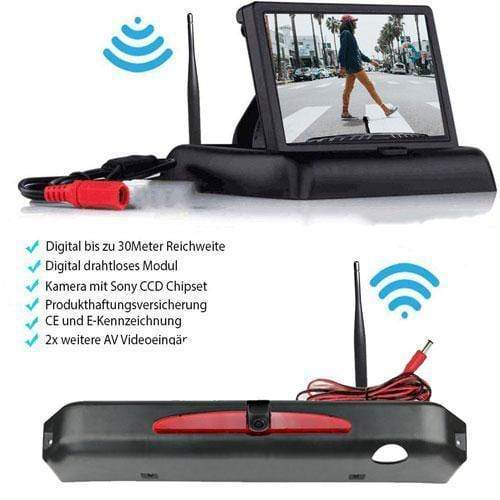 Rückfahrkamera für Iveco Daily 2015-2017. Digitale Kabellos & Flip Monitor mit Sony CCD Chipset