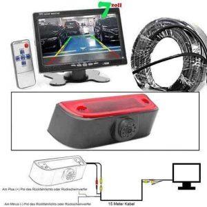 Rückfahrkamera für Nissan NV200 mit 7 zoll Monitor - Auto Rückfahrkamera