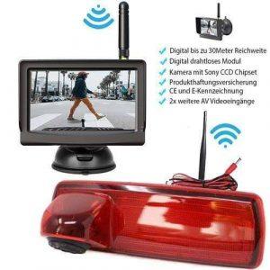 """Rückfahrkamera für Opel Vivaro und Renault Trafic. Digital Kabellose mit Sony CCD Chipset. 5"""" HD Monitor"""