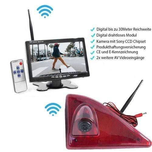 """Rückfahrkamera für Renault Master, Nissan NV400 & Opel Movano. Digital Kabellose mit Sony CCD Chipset. 7"""" HD Monitor"""
