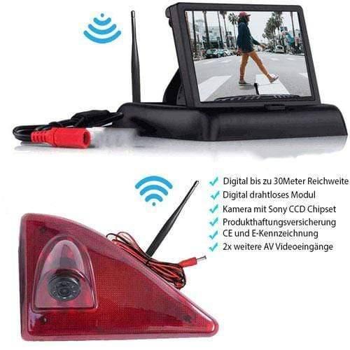 Rückfahrkamera für Renault Master, Nissan NV400 & Opel Movano. Digital Kabellose mit Sony CCD Chipset. Flip Monitor