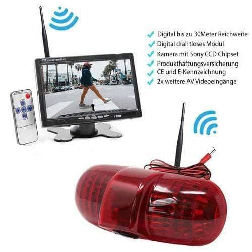 """Rückfahrkamera für Renault Trafic, Opel Combo & Opel Vivaro. Digital Kabellose mit Sony CCD Chipset. 7"""" Monitor"""