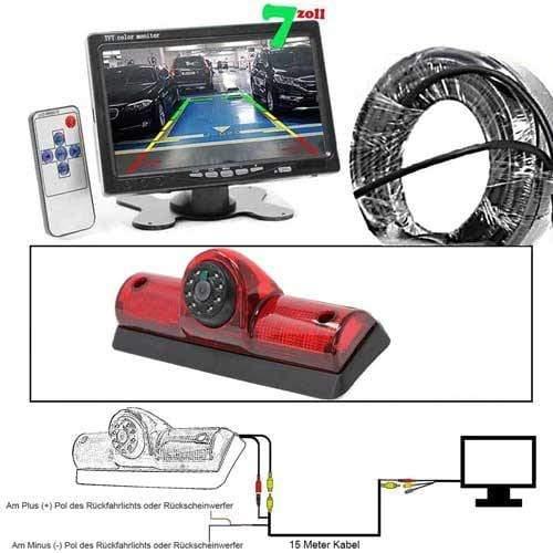 Rückfahrkamera mit 7 zoll Monitor für Nissan Cargo und Nissan NV Passenge