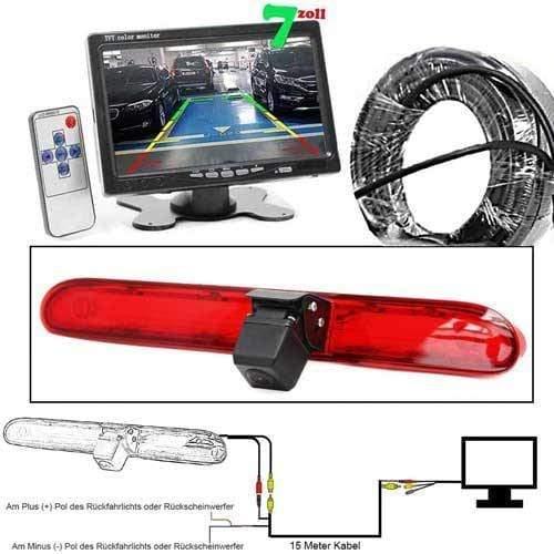 Rückfahrkamera mit 7 zoll Monitor für Peugeot Expert, Citroen Dispatch & Toyota Proace