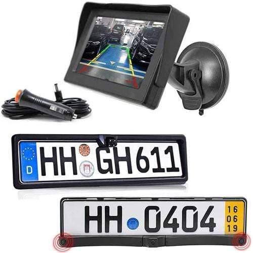 Rückfahrkamera Vorne und Hinten mit Parksensoren inkl Autoscheibe Monitor