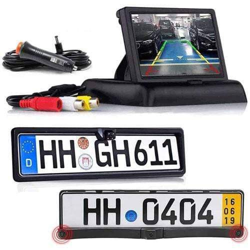 Rückfahrkamera Vorne und Hinten mit Parksensoren inkl Flip Monitor