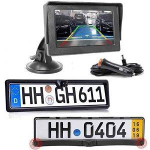 Rückfahrkamera Vorne und Hinten mit Parksensoren inkl Stand Monitor