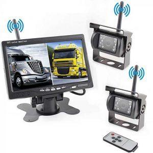 Dual Digitale Rückfahrkamera mit HD Monitor & Videoaufnahme